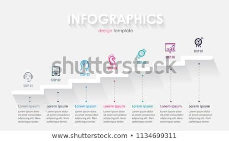 Semplice carta timeline vettore infografica relazione Foto d'archivio © orson