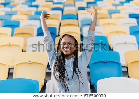 улыбаясь · спортивных · женщину · баскетбол · мяча - Сток-фото © wavebreak_media
