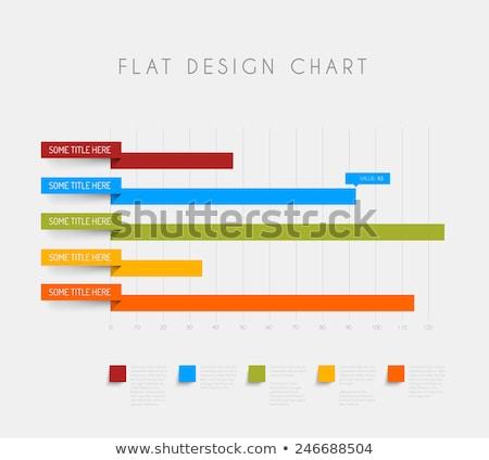 Wektora kolumnie poziomy wykres szablon projektu Zdjęcia stock © orson
