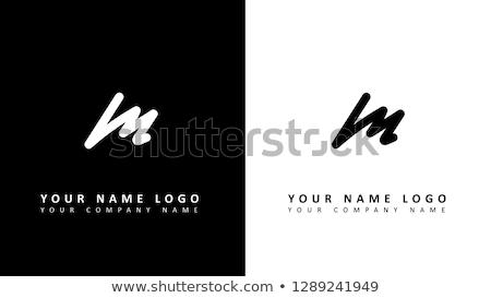 M betű prémium logoterv márka esküvő étterem Stock fotó © SArts
