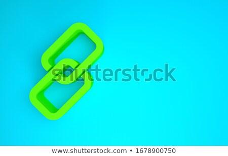 Cooperazione verde pulsante rendering 3d metallico tastiera Foto d'archivio © tashatuvango
