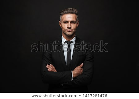 Man on Black Background Stock photo © filipw