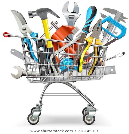 Vector Supermarket Basket with Hand Tools Stock photo © dashadima