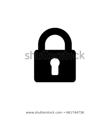 Set of black icons lock, vector illustration. Stock photo © kup1984