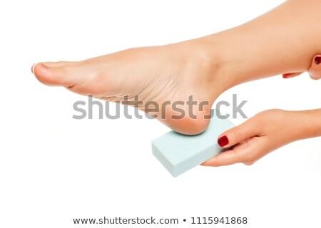 педикюр · ногу · мертвых · кожи · женщину - Сток-фото © andreypopov