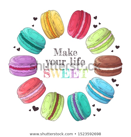 Macarons Set Vector. Realistic Tasty Colourful French Macaroons. Isolated Illustration. Stock photo © pikepicture