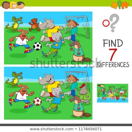 スポット 違い ゲーム 子供 脳 訓練 ストックフォト © Olena