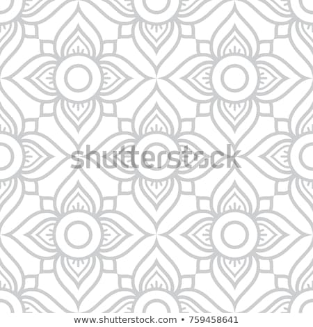 Thai flowers seamless vector pattern, grey floral repetitive design inspired by art from  Thailand Stock photo © RedKoala
