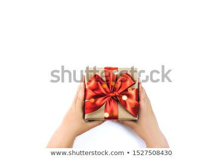 Female holding present Stock photo © IS2