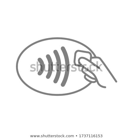 ボタン · 白 · を · ショップ · 青 · 手 - ストックフォト © tashatuvango