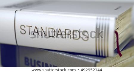 üzlet könyv cím automatizálás 3D közelkép Stock fotó © tashatuvango