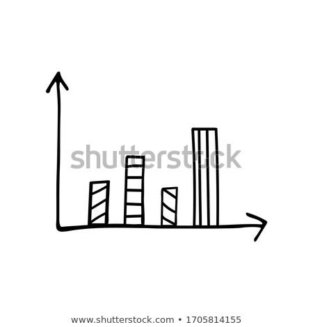 Económico pronóstico garabato diseno iconos Foto stock © tashatuvango