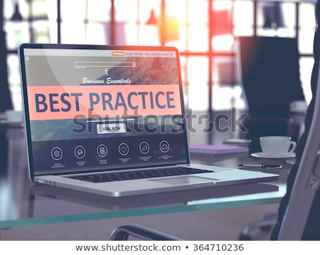 Landing pagina laptop best praktijk Stockfoto © tashatuvango