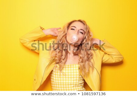 Portrait of women with bubble Gum Stock photo © IS2