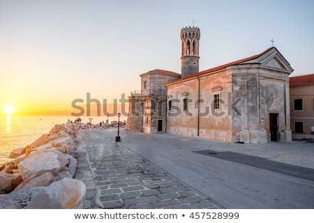Cape Madona in old town of Piran in Slovenia Stock photo © stevanovicigor