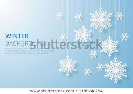 Hola invierno vector nieve cielo Foto stock © beaubelle