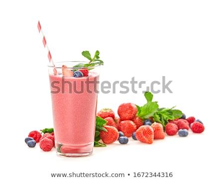 smoothie · verre · ingrédients · haut · vue · saine - photo stock © LightFieldStudios