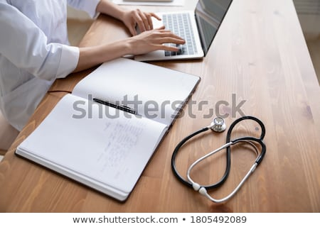 Asztal orvosi irodai asztal iroda kicsi tabletták Stock fotó © stevanovicigor