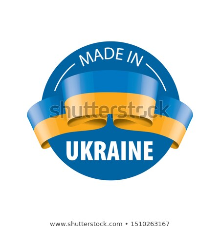 Ukraine Flag ribbon isolated. Ukrainian symbol national tape. St Stock photo © popaukropa