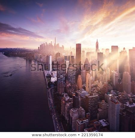 鳥 · 眼 · 表示 · 市 · 日の出 · 高さ - ストックフォト © artjazz