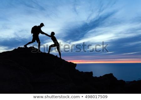 fitness · nina · formación · núcleo · montana · entrenamiento - foto stock © blasbike