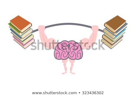 Up forte cervello grande muscoli impegnato Foto d'archivio © popaukropa