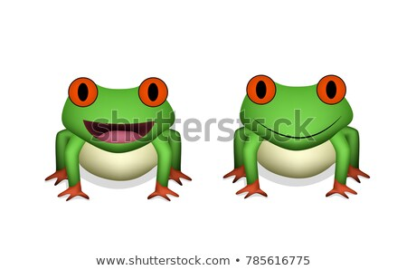 Front view, 3D Red eye frog in vector Stock photo © jiaking1