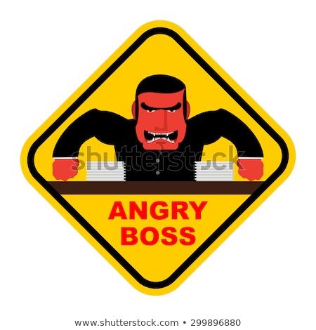 сердиться · Cartoon · взрыв · иллюстрация · глядя · энергии - Сток-фото © popaukropa