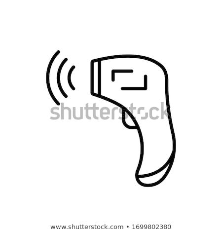 elektronische · thermometer · illustratie · witte · ontwerp · glas - stockfoto © rastudio
