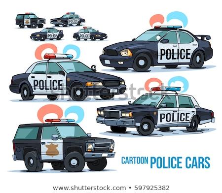 полиции · автомобилей · синий · вектора · город - Сток-фото © rastudio