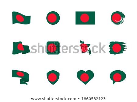 バングラデシュ 中心 フラグ ベクトル 画像 ビジネス ストックフォト © Amplion