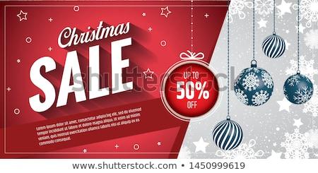 Férias de vendas publicidade natal azul Foto stock © studioworkstock