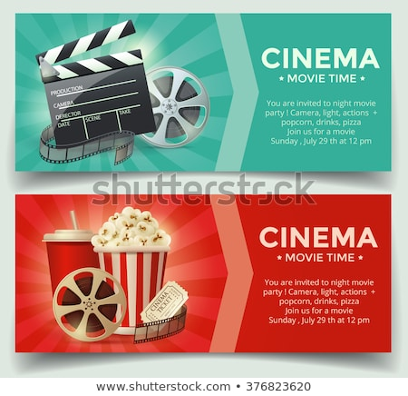 Colorful template of cinema tickets Stock photo © studioworkstock