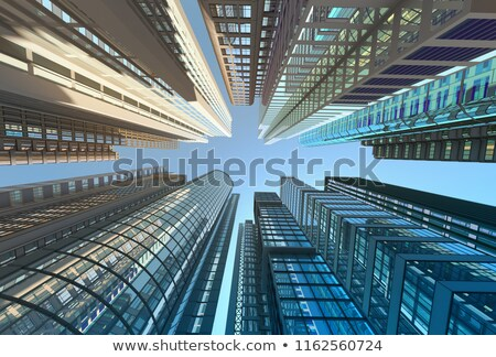 Perspective view on modern skyscraper Stock photo © Anna_Om