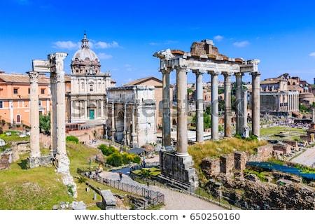 Romano fórum Itália ruínas verão edifício Foto stock © Givaga