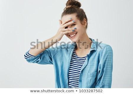 Bastante gesto vergüenza cómico Foto stock © rogistok