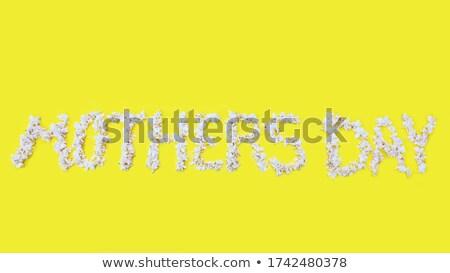 Heureux jour calligraphie texte carte de vœux Photo stock © orensila
