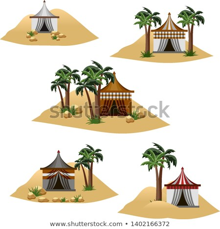 cartoon · natuur · landschap · woestijn · geïsoleerd · witte - stockfoto © bluering