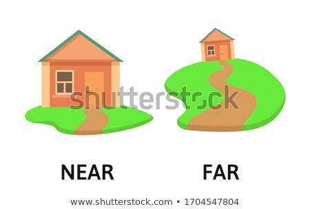 opposite word education flashcard illustration stock photo © bluering