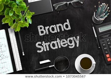 Czarny Tablica marka strategii 3D Zdjęcia stock © tashatuvango