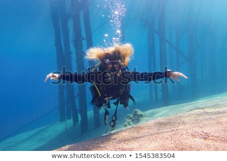 Enjoing In Underwater World Stock photo © MilanMarkovic78