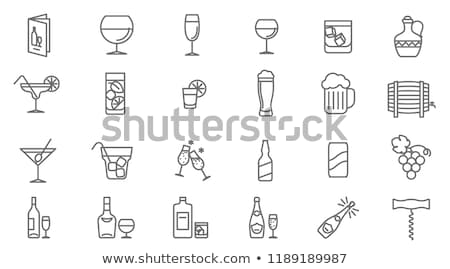 vin · vigne · décoratif · design · bouteille · verre - photo stock © glorcza