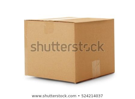 closed cardboard box Stock photo © caimacanul