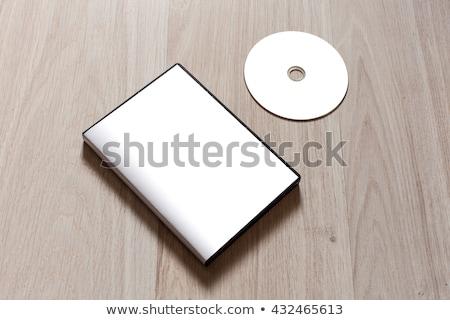 Czarny płyta cd szablon odizolowany biały Zdjęcia stock © daboost
