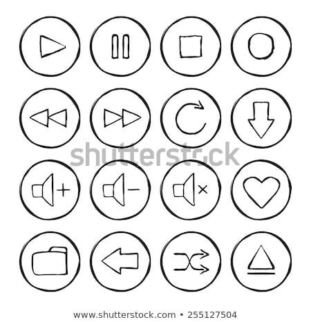 hangerő · irányítás · kézzel · rajzolt · skicc · firka · ikon - stock fotó © rastudio