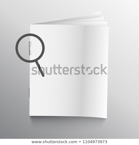 book or magazine mockup with staple pin Stock photo © SArts