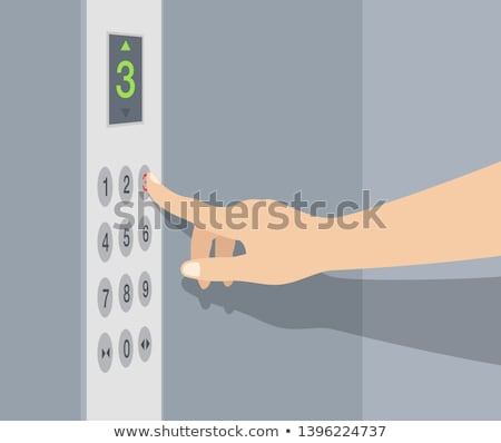 hand pushing the button house stock photo © rufous