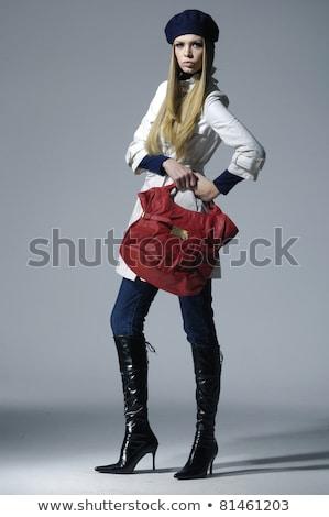 Teljes alakos portré csábító fiatal nő fürdőruha küldés Stock fotó © deandrobot