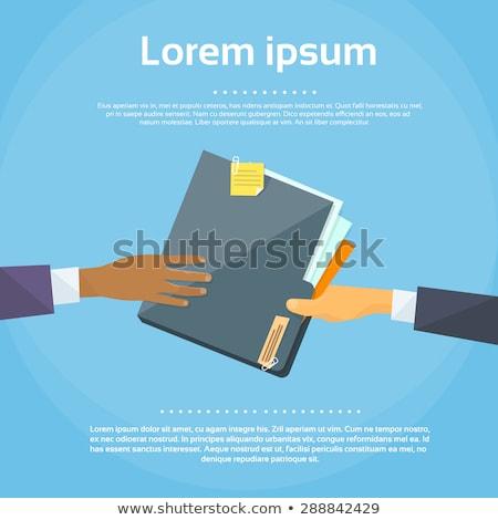 Businessman with document folder vector illustration. Stock photo © RAStudio
