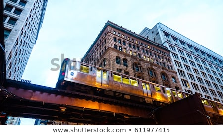 Chicago treinstation trein lijn stad reizen Stockfoto © vwalakte